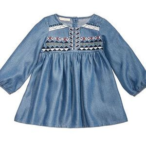 First Impressions Embroidered Denim Dress 18M